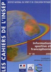 CahiersINSEP#38-2008_portada