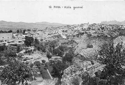 Panoràmica del Castell de Jaume I i Església de Santa Maria de Piera